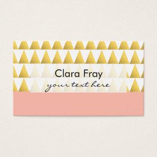 melocotón en colores pastel elegante, modelo de tarjeta de negocios