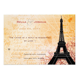 Melocotón RSVP de la torre Eiffel Comunicados