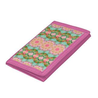 Melocotones y cartera de la mandala del rosa