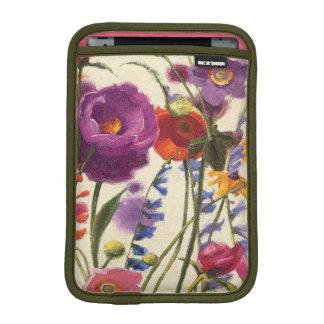 Melodía púrpura y anaranjada de la amapola funda para iPad mini