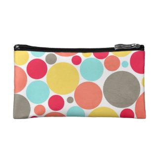 Melón, azul, amarillo, rosa, bolso punteado polca
