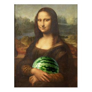 Melona Lisa desea día nacional feliz de la sandía Postal
