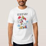 Meme nevoso divertido de santa del búho camiseta