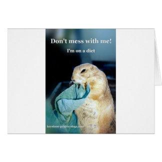 Meme trapezoidal de la dieta del perro de las tarjeta