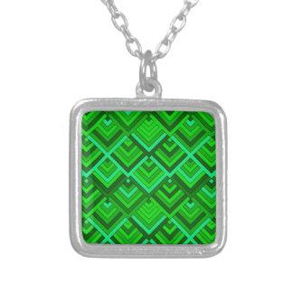 memoria formada de los años 60, verde pendientes personalizados