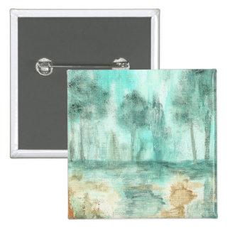 Memoria, pintura abstracta del arte de los árboles chapa cuadrada 5 cm