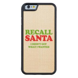 Memoria Santa -- Humor del día de fiesta Funda De iPhone 6 Bumper Arce