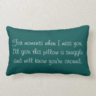 """Memoria """"siempre conmigo"""" almohada"""