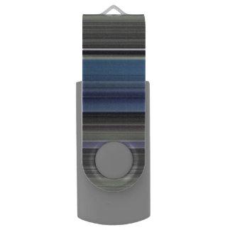 Memoria USB #1 abstracto: Azul y gris