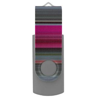 Memoria USB #1 abstracto: Cerise y gris