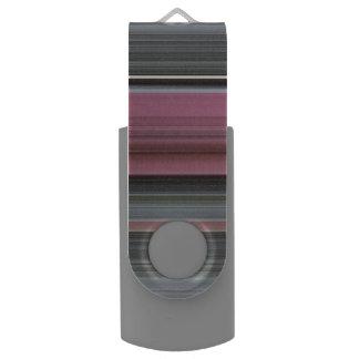 Memoria USB #1 abstracto: Rosa y gris