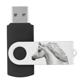 Memoria USB árabe gris del caballo
