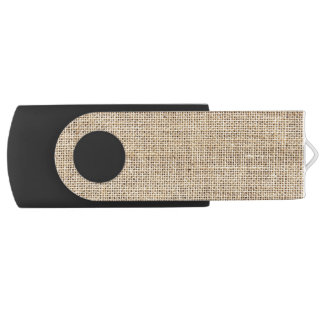 Memoria USB Arpillera rústica del vintage del país