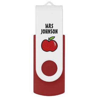 Memoria USB Ayudante rojo personalizado del profesor de