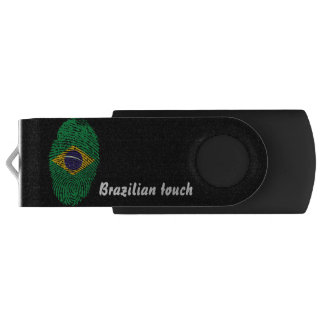 Memoria USB Bandera brasileña de la huella dactilar del tacto