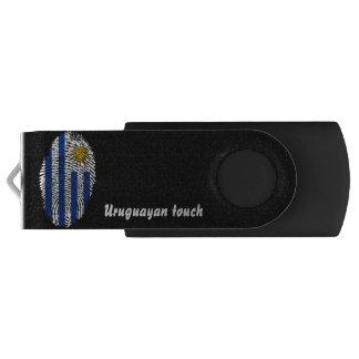 Memoria USB Bandera uruguaya de la huella dactilar del tacto