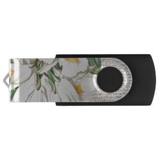Memoria USB Caligrafía blanca de las orquídeas