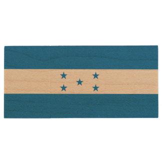 Memoria USB De Madera Bandera de Honduras