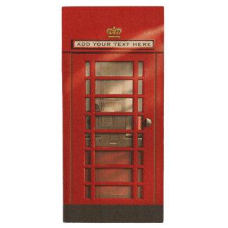 Memoria USB De Madera Cabina de teléfono británica roja clásica
