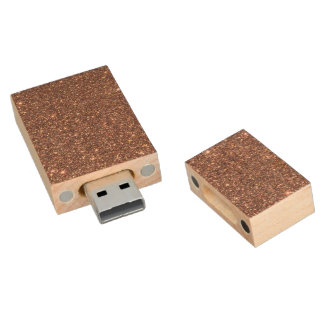 Memoria USB De Madera Chispas de bronce del brillo