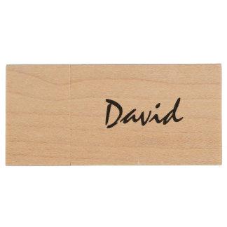 Memoria USB de madera conocida personalizada del