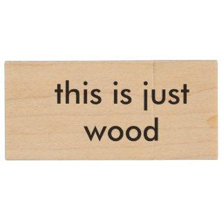 Memoria USB De Madera ésta es apenas impulsión dura de madera de madera