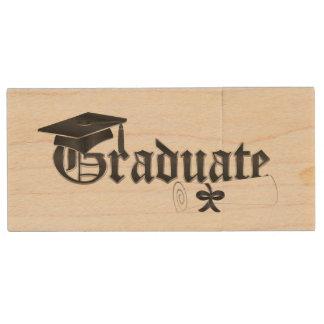 Memoria USB de madera graduada