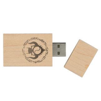 Memoria USB de siete pecados mortales