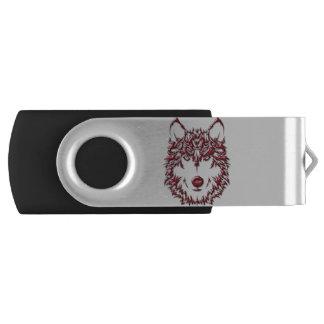 Memoria USB del lobo rojo