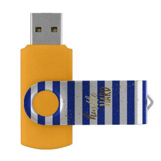 Memoria USB dura del efecto de la hoja de oro de