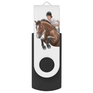 Memoria USB ecuestre del caballo del puente de la