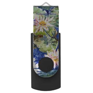 Memoria USB Jardín del agua en acuarela con su nombre