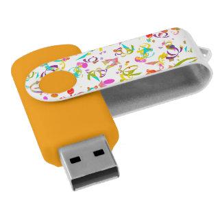 Memoria USB Lanzamiento colorido del confeti