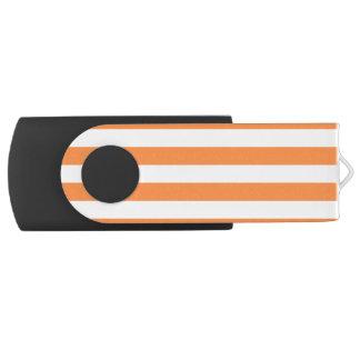 Memoria USB Modelo anaranjado y blanco de la raya