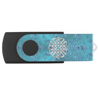 Memoria USB Nudo del Celtic del damasco de la turquesa