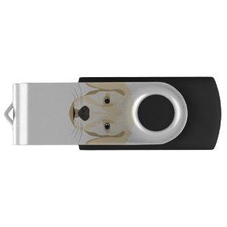 Memoria USB Perrito Retriver de oro del ilustracion