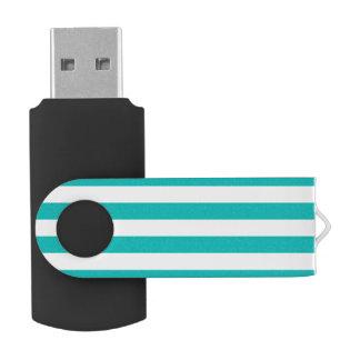Memoria USB Rayas horizontales de la aguamarina