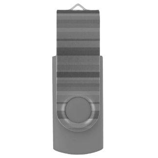 Memoria USB Rayas horizontales grises
