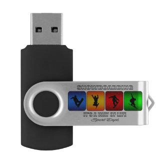 Memoria USB Snowboard fresca es una manera de vida