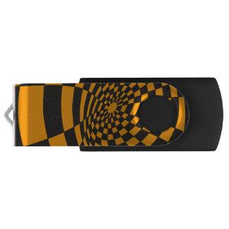 Memoria USB Tablero de damas amarillo y negro deformado