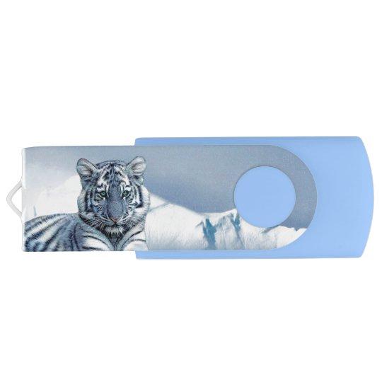 Memoria USB Tigre blanco azul