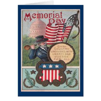 Memorial Day del vintage - un país Tarjeta De Felicitación