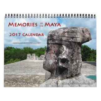 Memorias del calendario de pared del maya