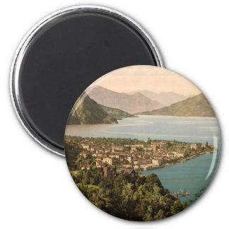 Menaggio, lago Como Imán Redondo 5 Cm