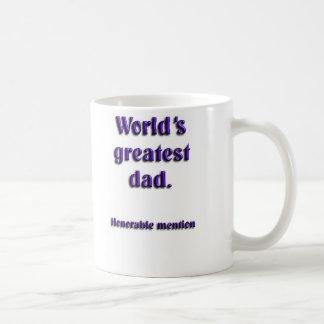 Mención honorable del papá más grande de los taza de café