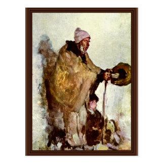 Mendigo bretón de Grigorescu Nicolae (la mejor cal Tarjetas Postales