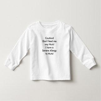 Mensaje de la alergia de la nuez de la camisa del