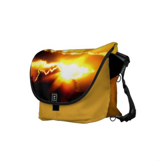 Mensajero del carrito de la puesta del sol bolsa messenger