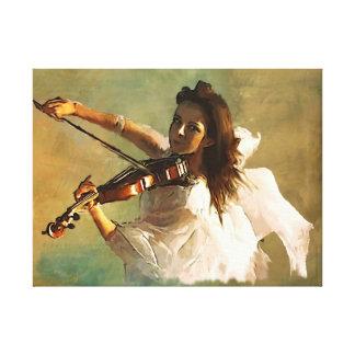 Mensajero musical impresión en lienzo