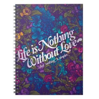 mensajes del amor libro de apuntes con espiral